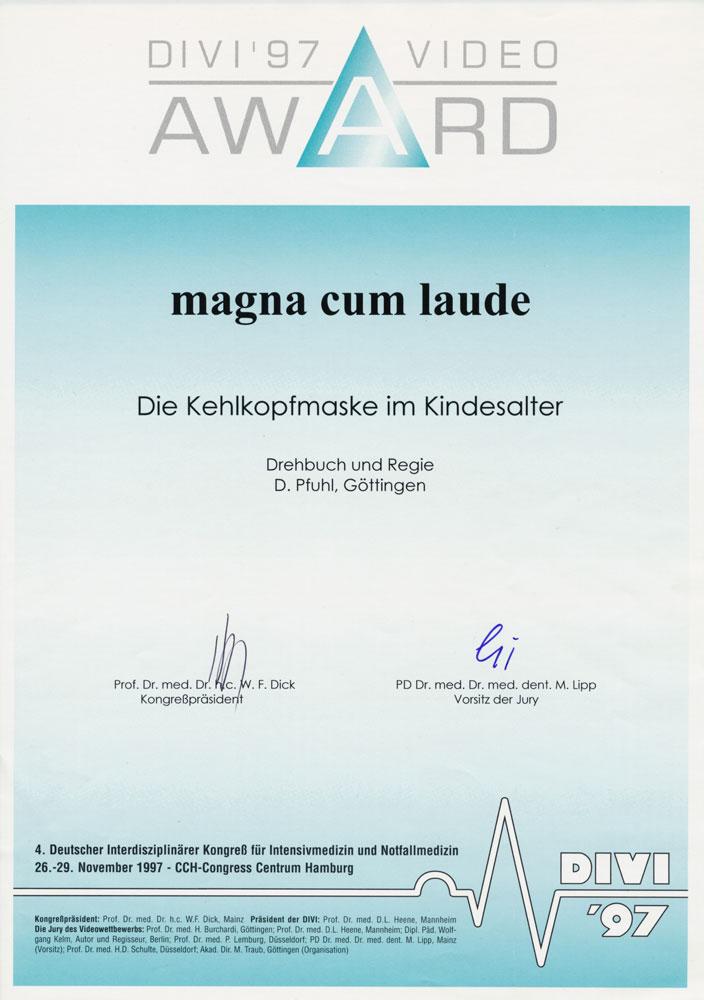 magna cum laude, DIVI 1997