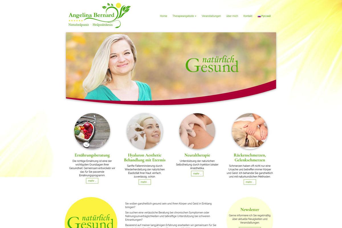 Screenshot Angelina Bernard - Heilpraktikerin - Startseite
